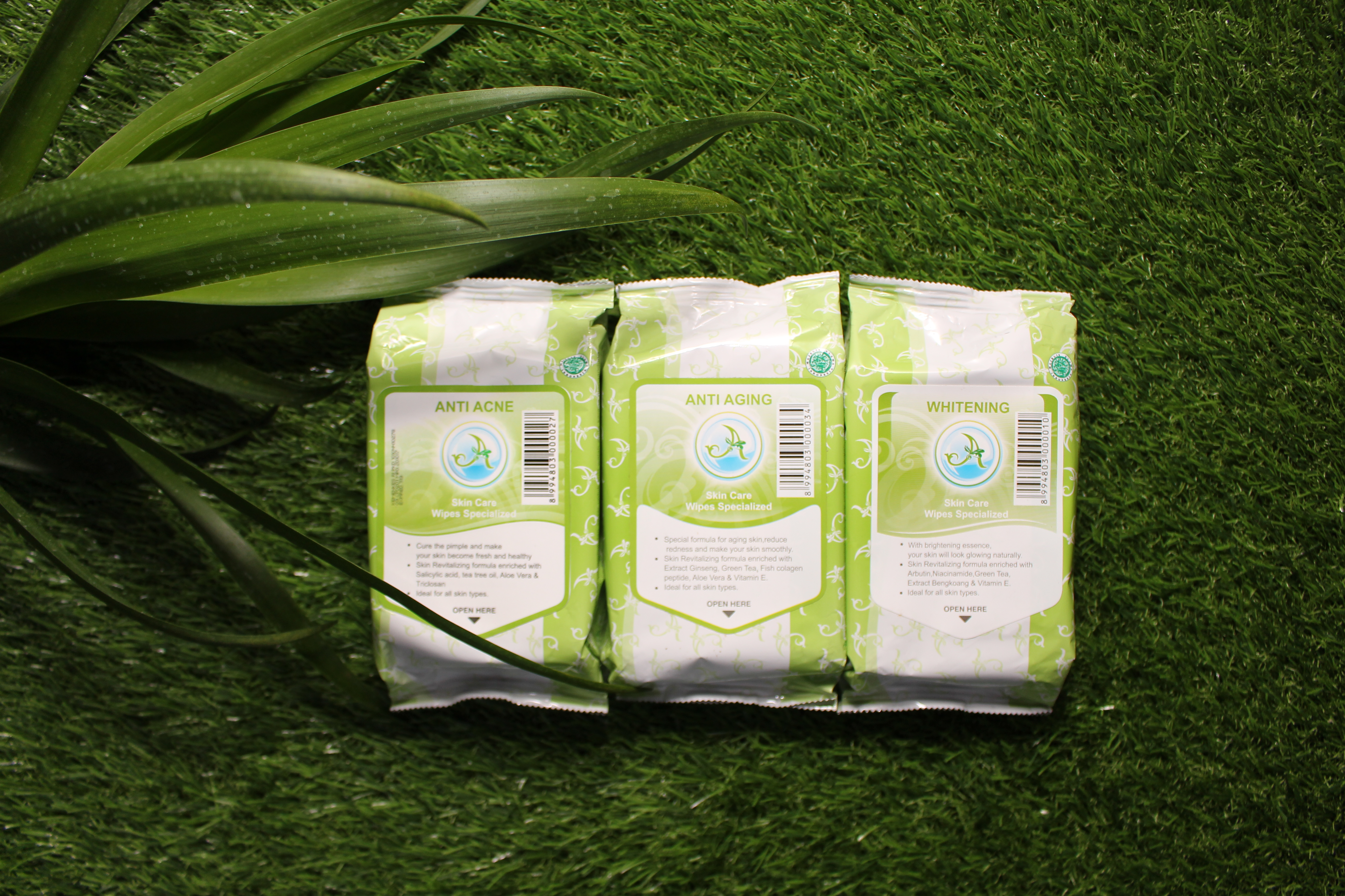 Whitening Skin Care Wipes Specialized