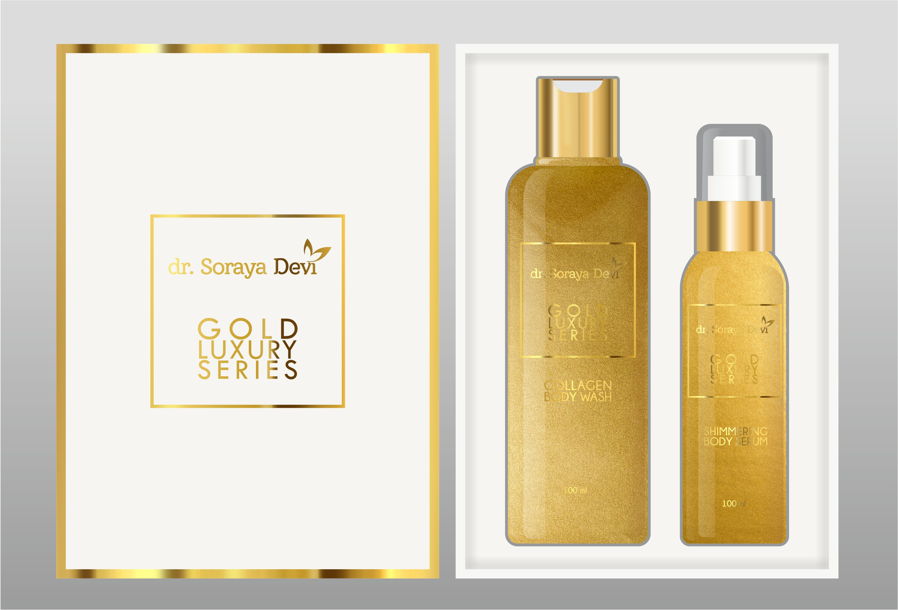 Body Product Set Luxury Gold Series